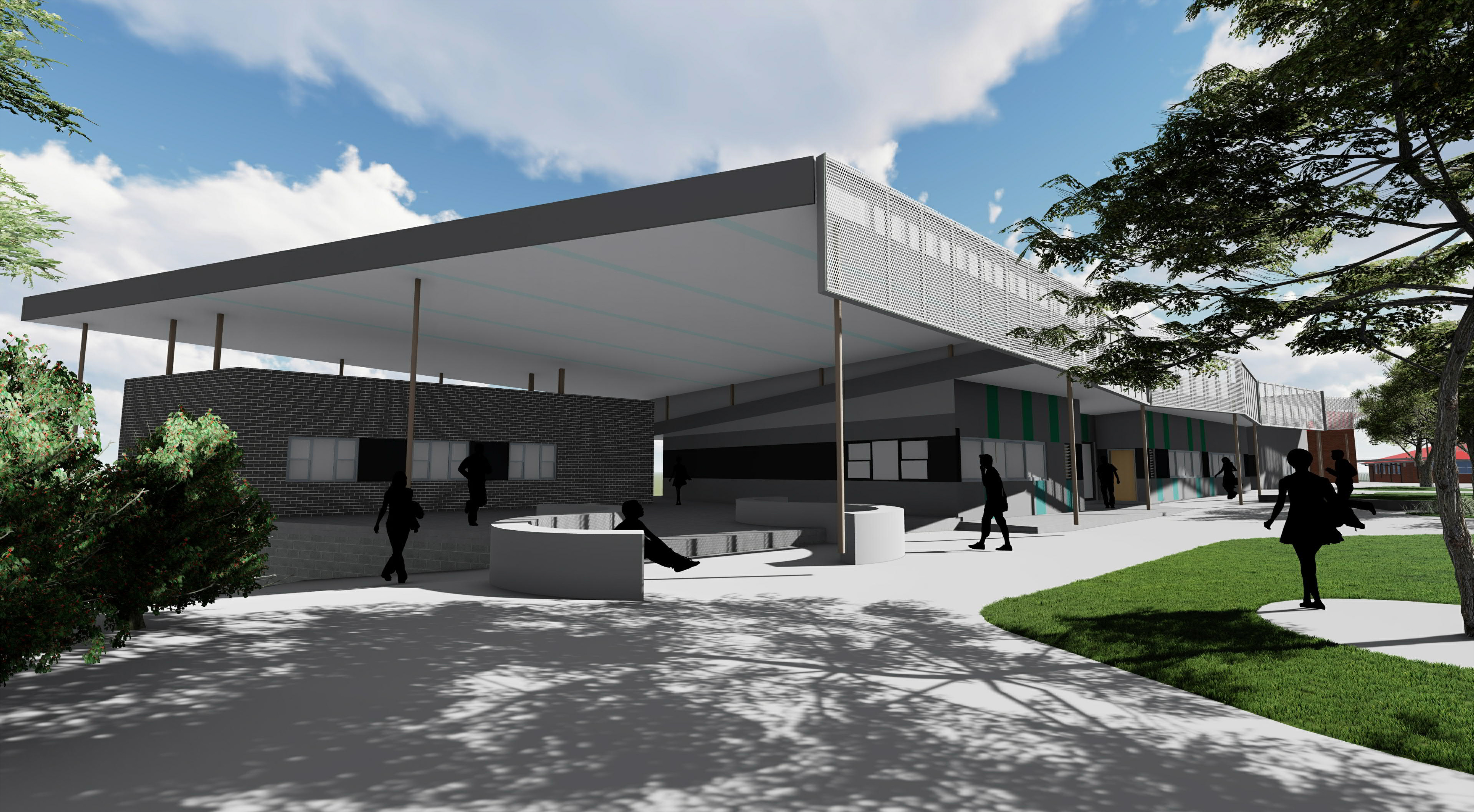Artist impression of the Belmont High School upgrade
