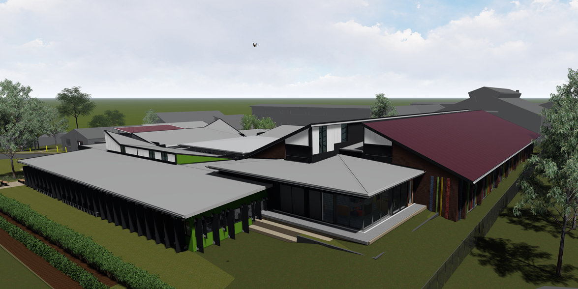 Artist impression of the Hurlstone Agricultural High School upgrade in Glenfield